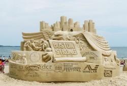 周末去Revere Beach看沙滩雕塑